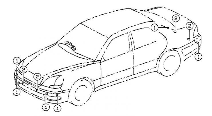 Система помощи при парковке Lexus LS430, Lexus LS430 Park Assist